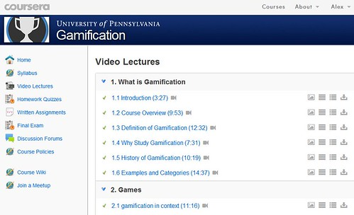 Gamification Video Lectures
