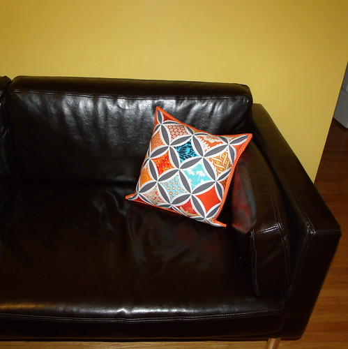 Cathedral Windows Pillow complete