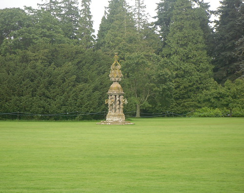 A fountain at Glamis Castle