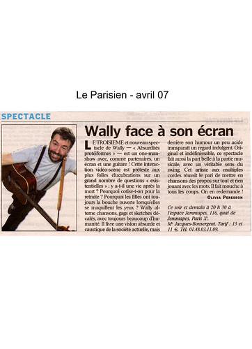 Papier le Parisien - AVR07