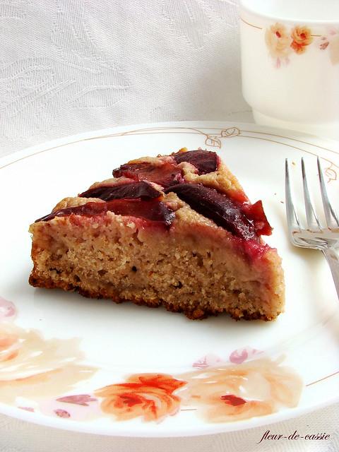 сливовый пирог низкокалорийный 2