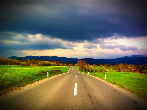 road storm colors clouds lens nuvole infinity slovenia infinito vignette tempesta iphone