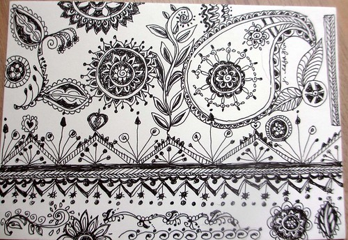 Easy Mehndi Patterns On Paper : The sketchbook challenge henna patterns