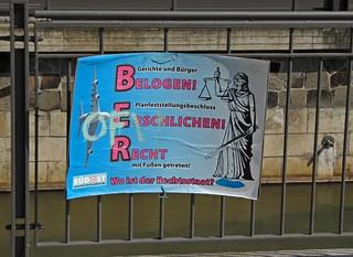 Plakat gegenüber Reichsgerichtshof