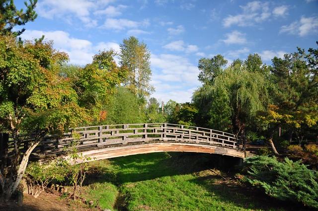 Arching bridge