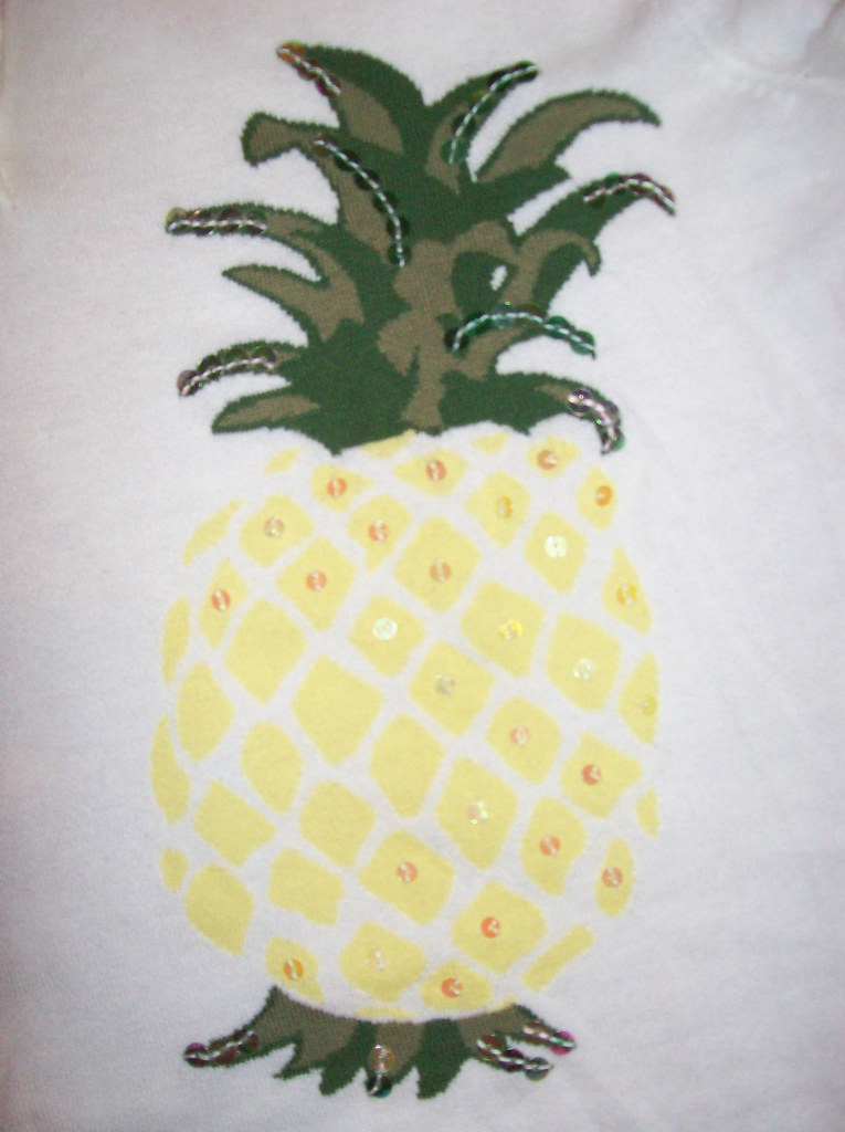 Pineapple sweater detail