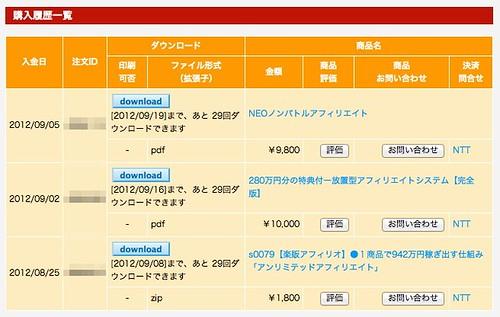 2012年8月〜9月購入商材をご紹介します。