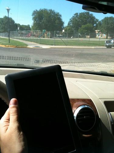 School pickup reading