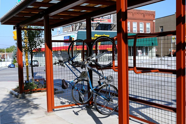 Vertical Bicycle Parking Colectivo Bay View