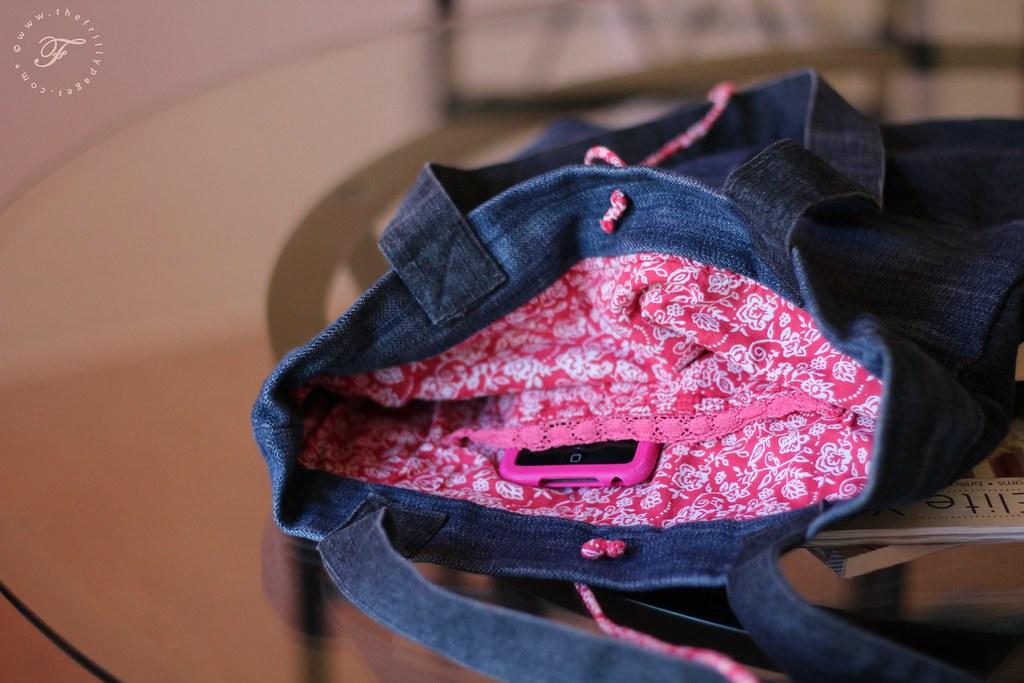 pocket with trim