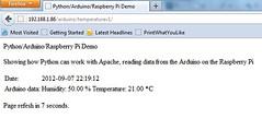 Arduino + Raspberry Pi