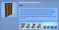 Glass Houses Sliding Door