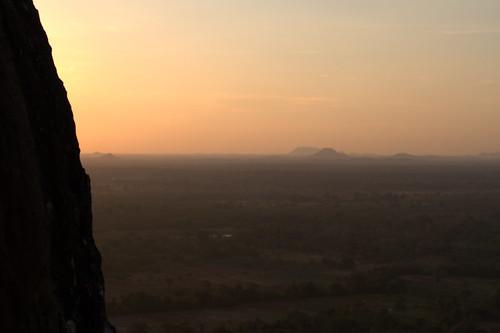 sunset srilanka sigirya