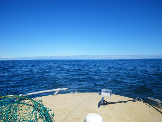 looking back at Cape D, 16 miles away...!