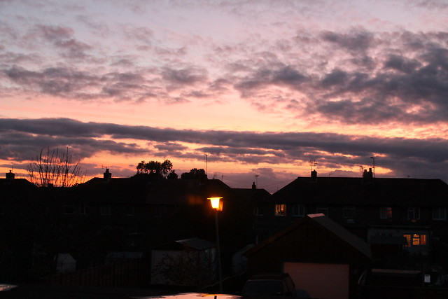 sunset and rooftops