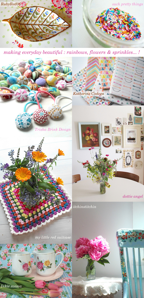making everyday beautiful : rainbows, flowers & sprinkles | Emma Lamb