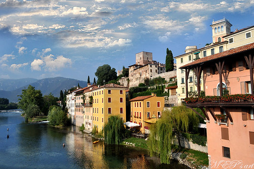 the cloudy river: Brenta river in Bassano del Grappa (Italy) [EXPLORE; September, 10, 2012]