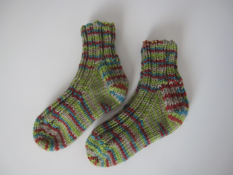 knit socks for young boy