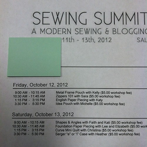 255:365 So excited for my @sewingsummit classes!!