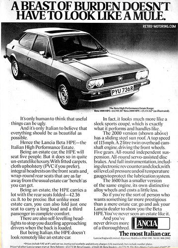 Lancia Beta HPE advert