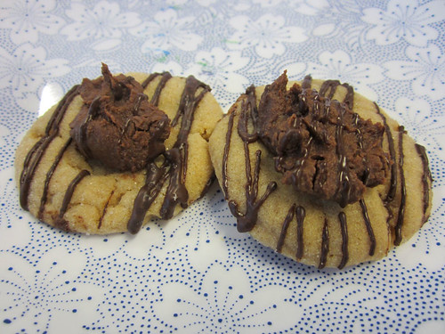 Peanut Butter and Chocolate Chip Cookie Dough Thumprint Cookies