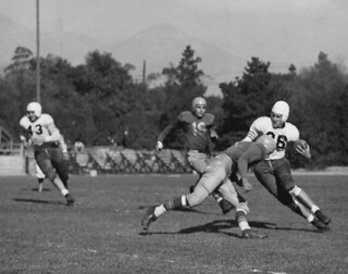 Pomona College football game in 1948