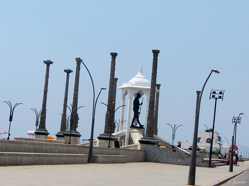 Gandhi Statue, Pondicherry