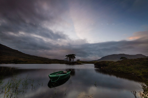 morning trees water clouds sunrise landscape scotland boat nikon sutherland assynt d90 lochassynt leefilters