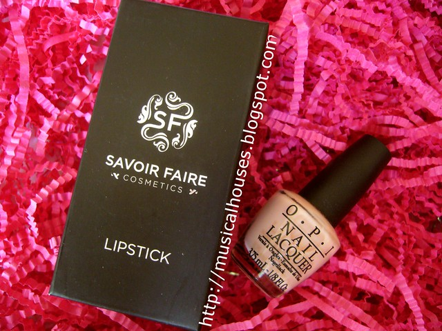 bellabox october savoir faire lipstick opi polish