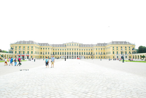 Overexposed Front of Schonbrunn