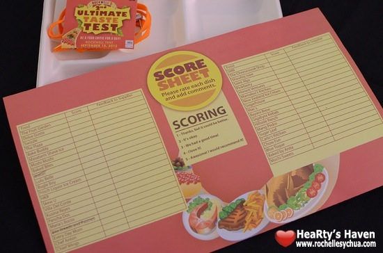 Ultimate Taste Test Scorecard