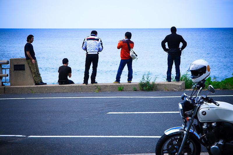 海とバイクとゆかいな仲間達。