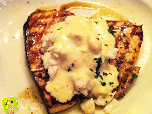 ft lauderdale - coconuts restaurant - grilled swordfish with crab meat