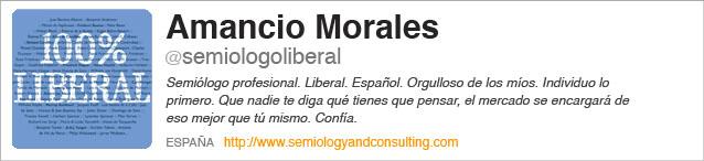 Perfil de Amancio Morales. Semiólogo Liberal. Confía.