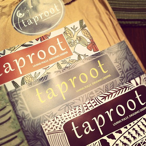 so happy I was able to get back issues and chat with the fabulous @soulemama and family #taproot #maine #cgcf2012 #commongroundfair