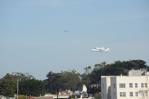 Endeavour over SF