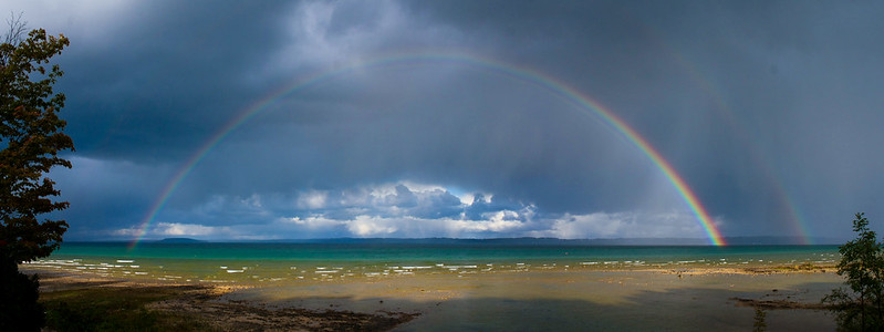 Rainbow over Grand Traverse Bay [Explored]
