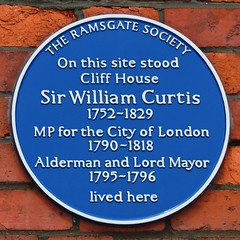 Photo of William Curtis blue plaque