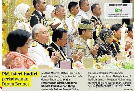 Gambar & Video Majlis Nikah Anak Perempuan Sultan Brunei