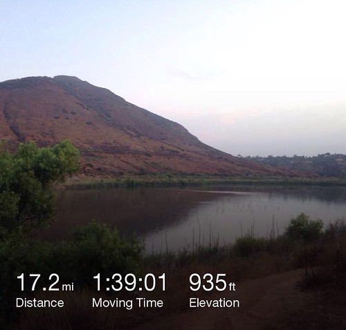 Dawn Patrol dirt edition with @ironnutz view of Lake Hodges after riding Highland Valley trail. #sandiego #summer # mtb