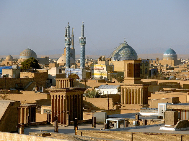 Silk road Muslim city skyline - Yazd, Iran