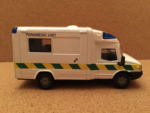 Chad Valley Toys - LDV Paramedic Ambulance - Miniature Die Cast Metal Scale Model Emergency Services Vehicle