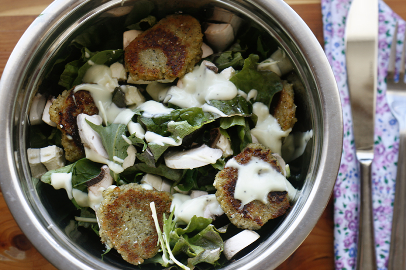 Falafel Medallion Salad