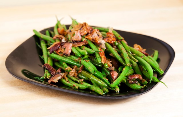 Bacon-Dijon Green Beans