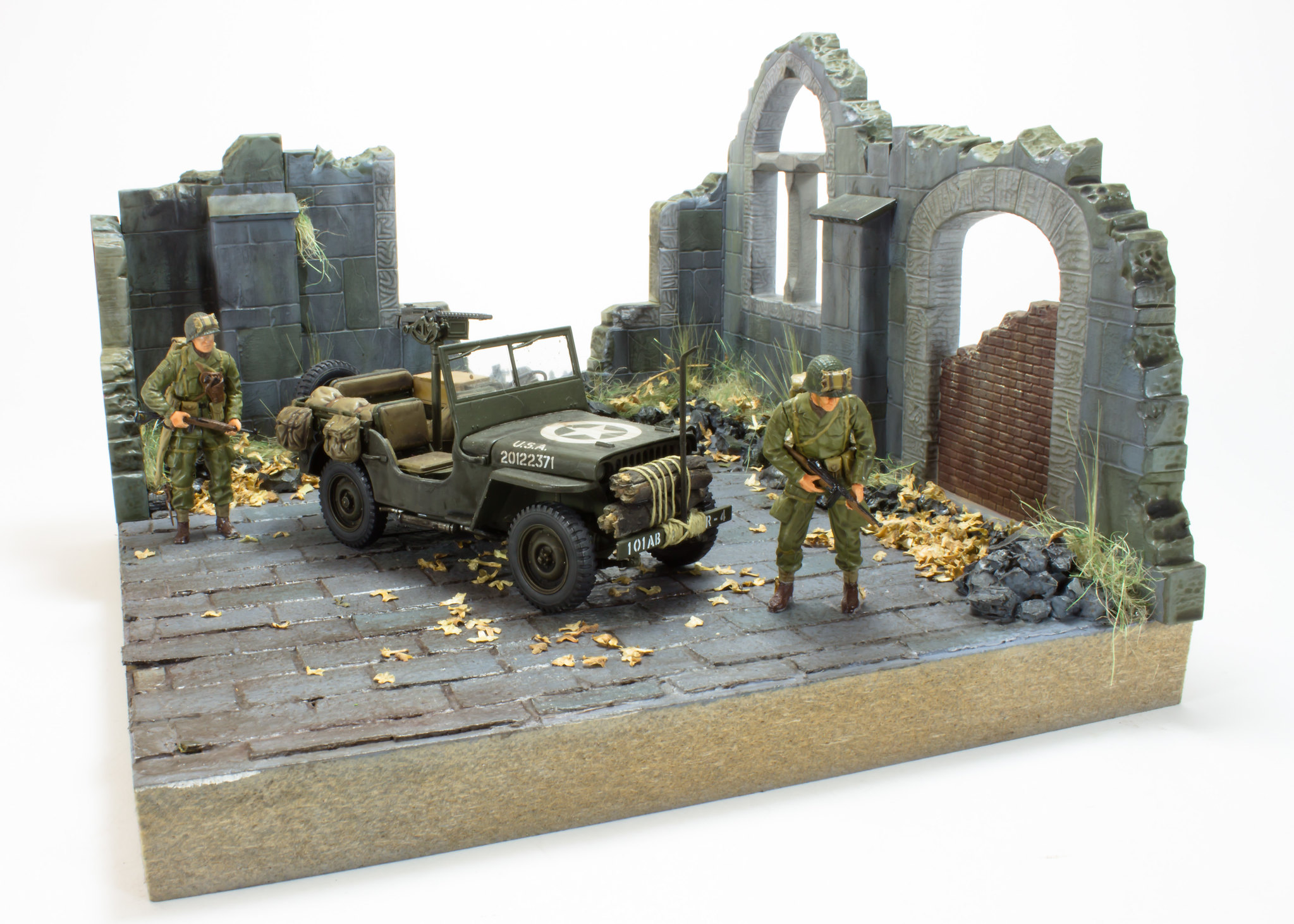 Willys Jeep Yes Another One Church Diorama 1 35 Ready