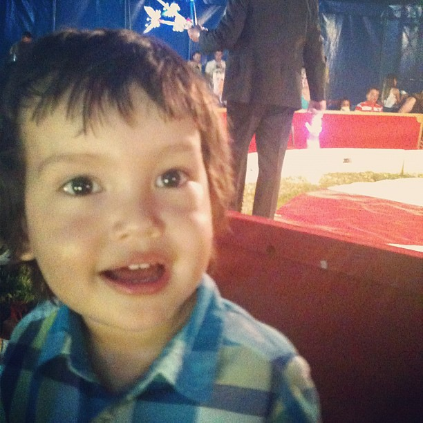 Babylove at the Circus while waiting to start