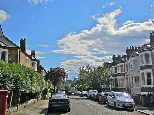 The sky above Tressillian Road