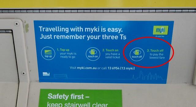 Myki: incorrect signage on tram