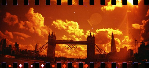 Tower Bridge With Olympic Rings August 2012 by colinedwin
