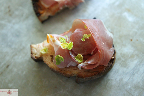 Grilled Crostini with Serrano Ham